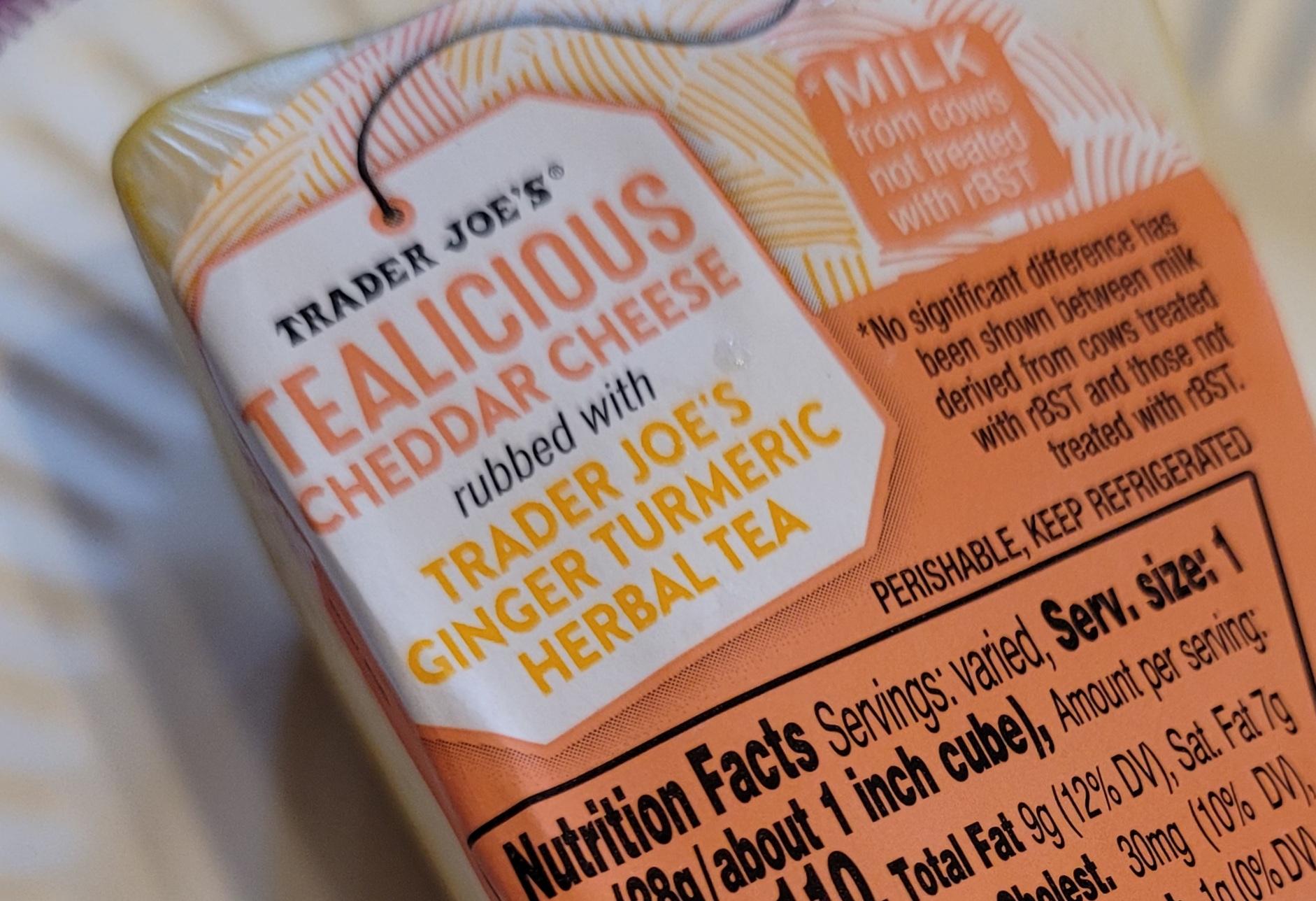 Trader Joe's Tealicious Cheddar Cheese