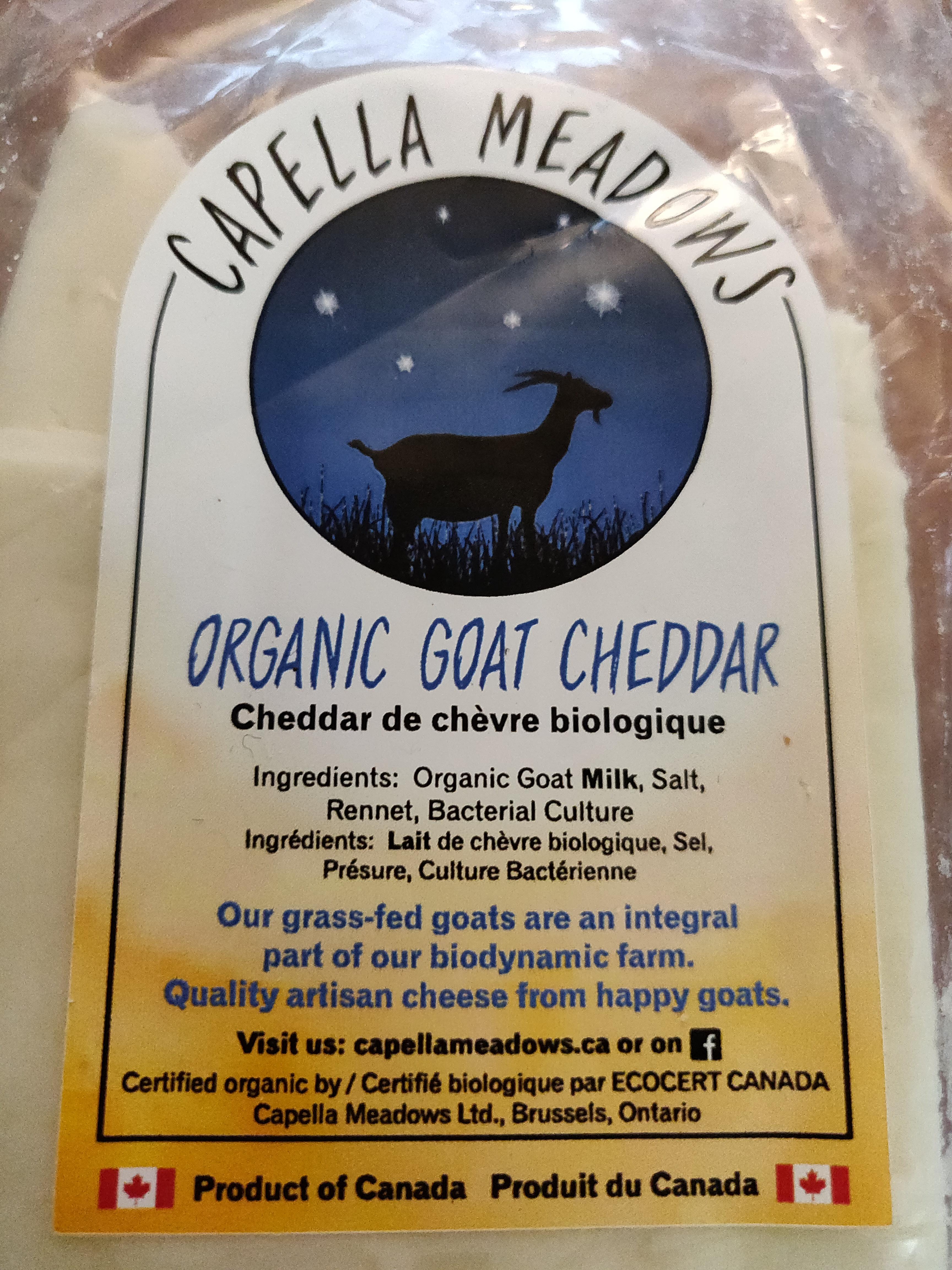 Organic Goat Cheddar
