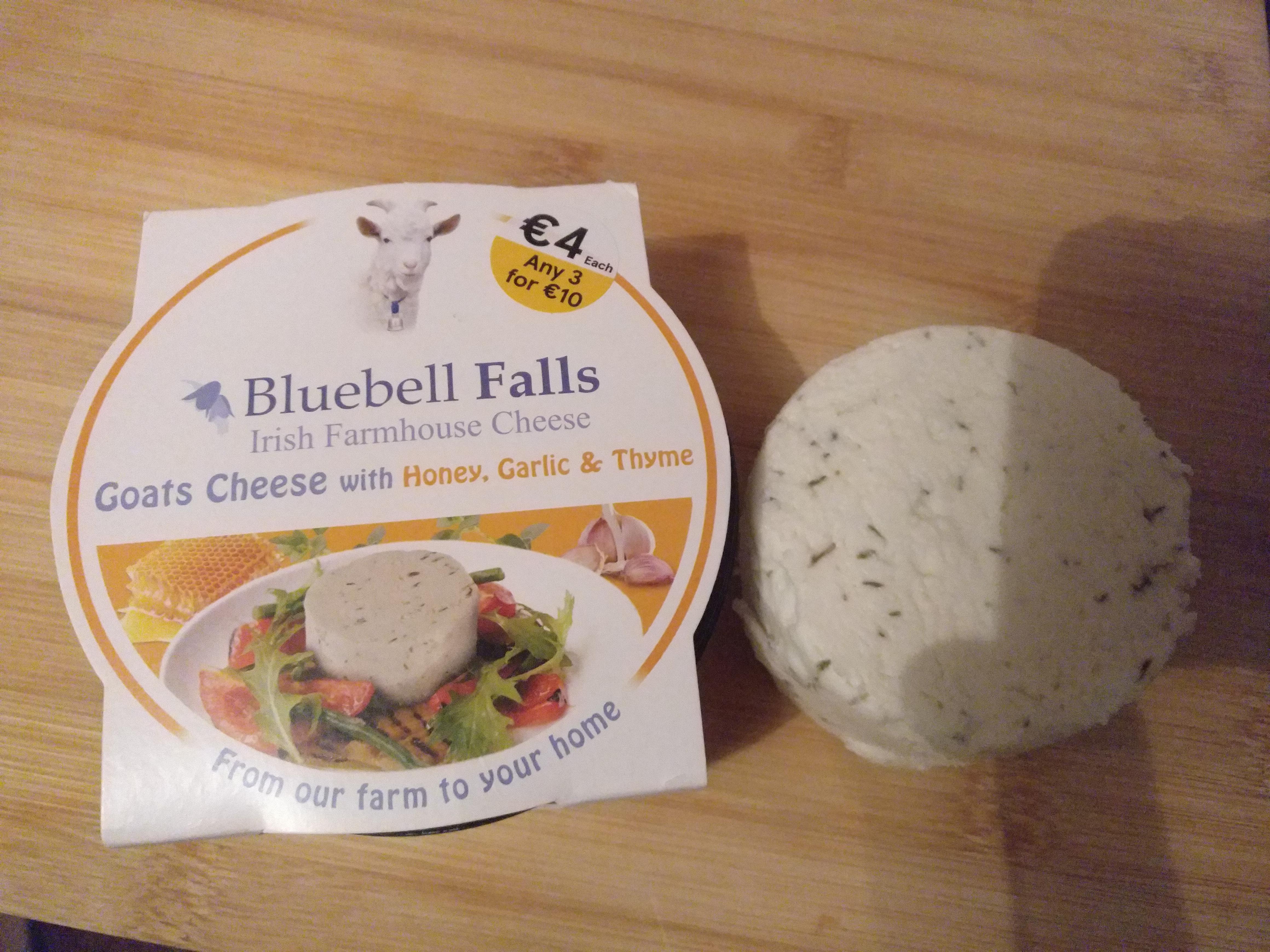 Bluebell Falls Goats Cheese - Honey, Garlic, Thyme