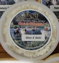 Olives and Garlic Chevre