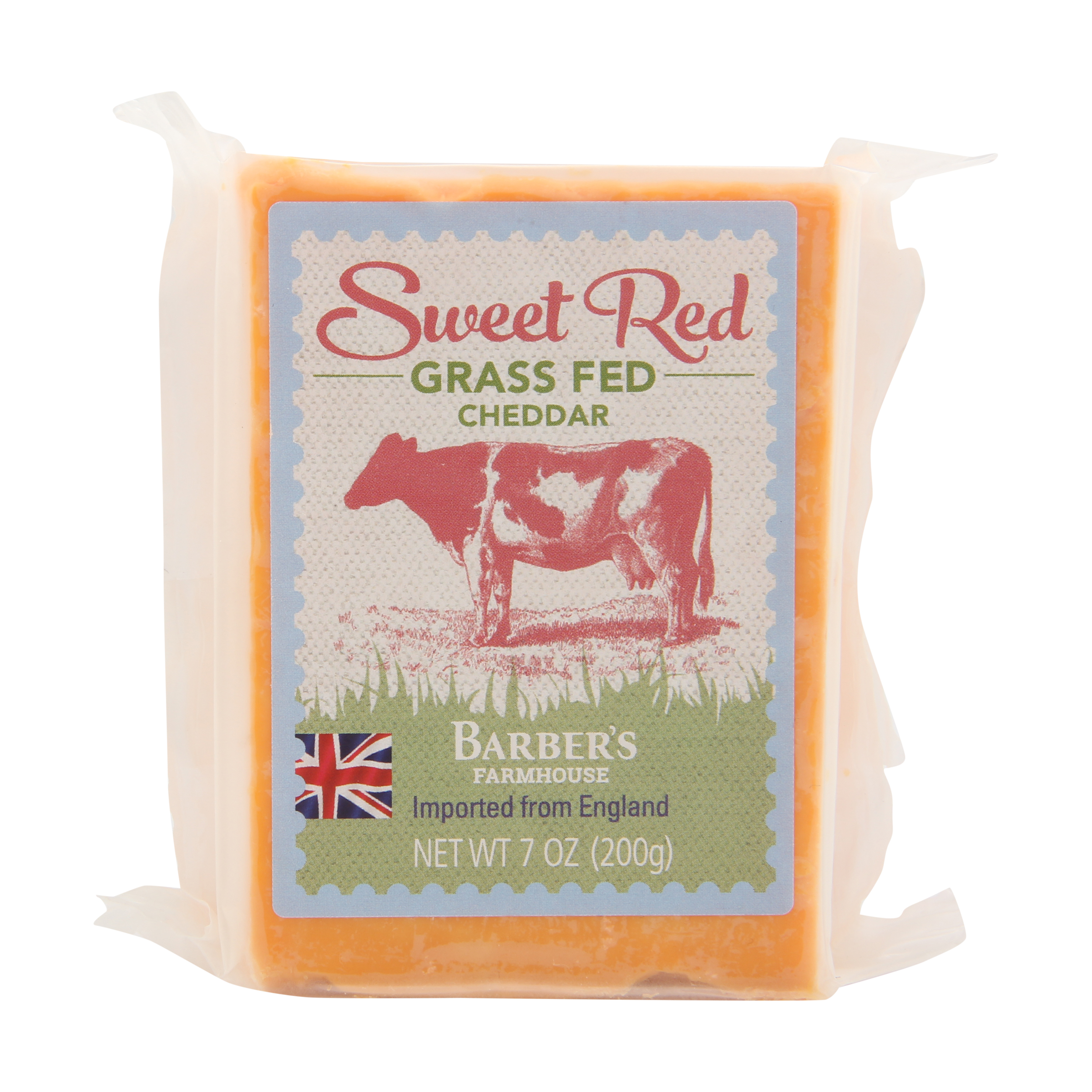 Sweet Red Grass-Fed Cheddar