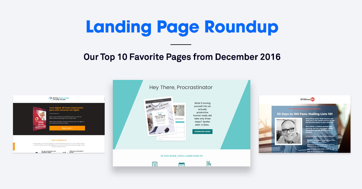10 of the Best Landing Pages We Saw in December 2016