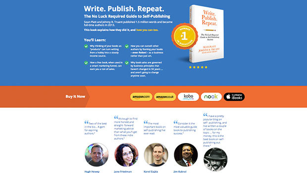The perfect page to sell your next book
