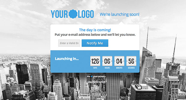 Free Coming Soon Landing Page Template
