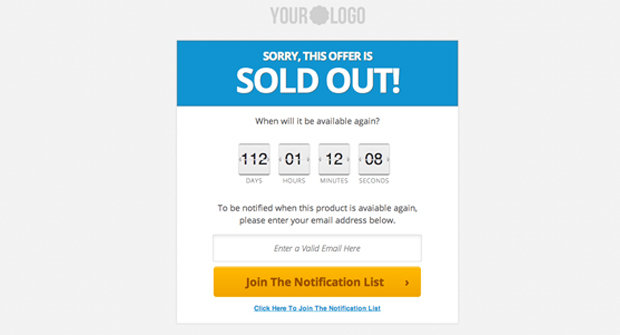 Sold Out Page