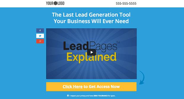 Get clear and focused with your marketing message by using this Video Squeeze Page