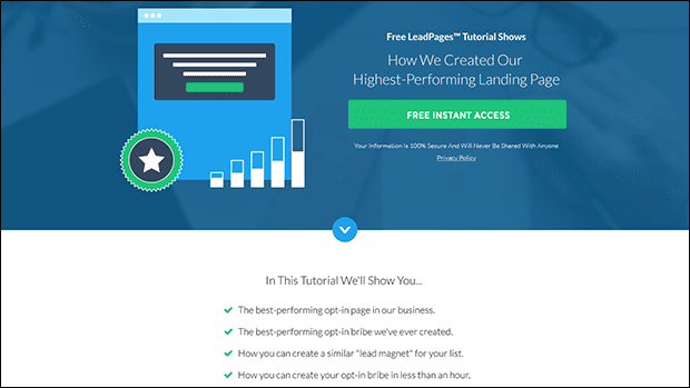 Use this proven AdWords / PPC landing page for your paid media campaigns.