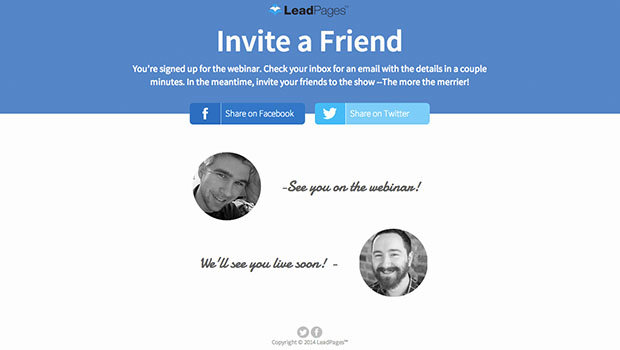 Tap Into Word Of Mouth Marketing With This Social Media Thank You Page