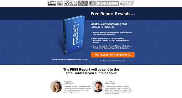 social proof lead gen page