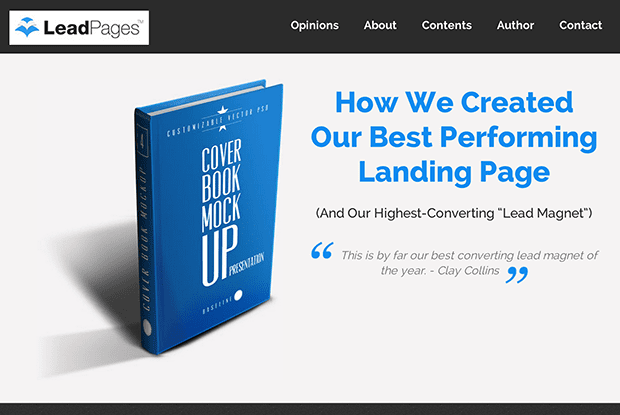 Test an Ebook Landing Page (like this one from Pat Flynn), against a template that gives away a video, mindmap, infographic or other lead magnet.