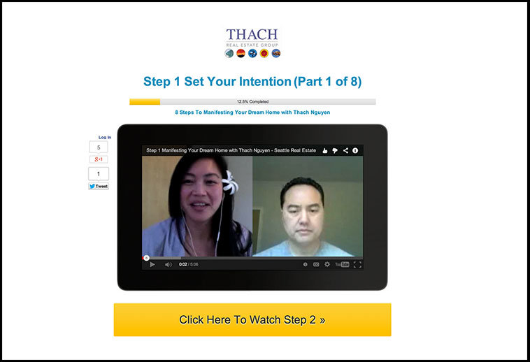 LeadPages customer, Stacia Loo created this eight-part follow-up video series with the Video Lesson for Autoresponder Follow-up page inside LeadPages.