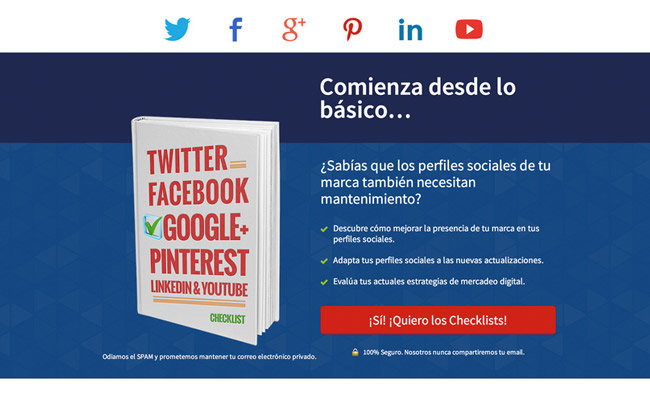 Without Testimonials: Using the Social Proof Giveaway Page template and body copy, Humberto promotes his book.