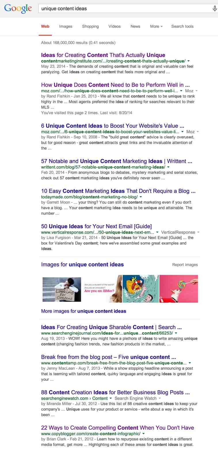 Unique-Content-Google-Search