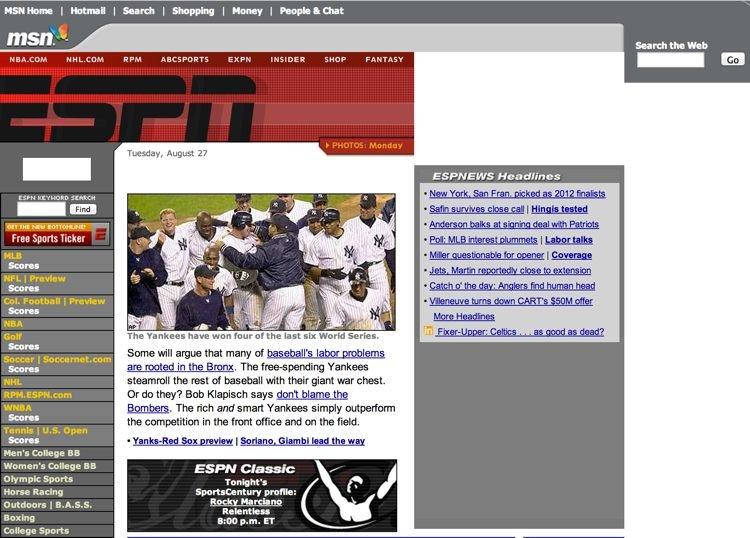 ESPN Homepage