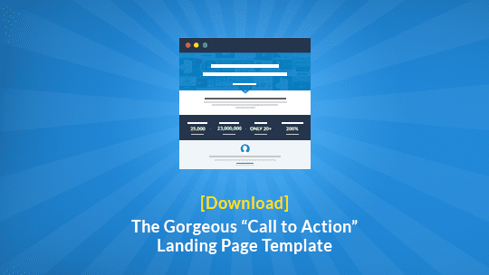 "Download a free copy of LeadPages' beautiful ""call to action"" landing page template and use it as an opt-in page or sales page."