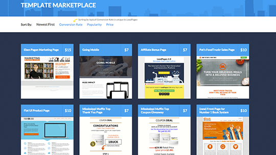 LeadPages Landing Page Template Marketplace is now live. You can buy ...