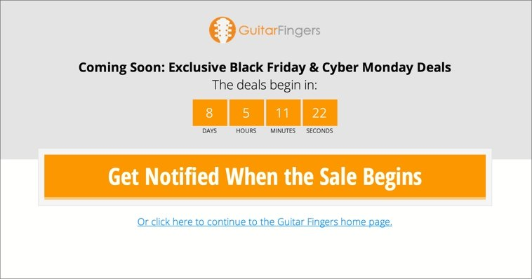 Black Friday Landing Page #1