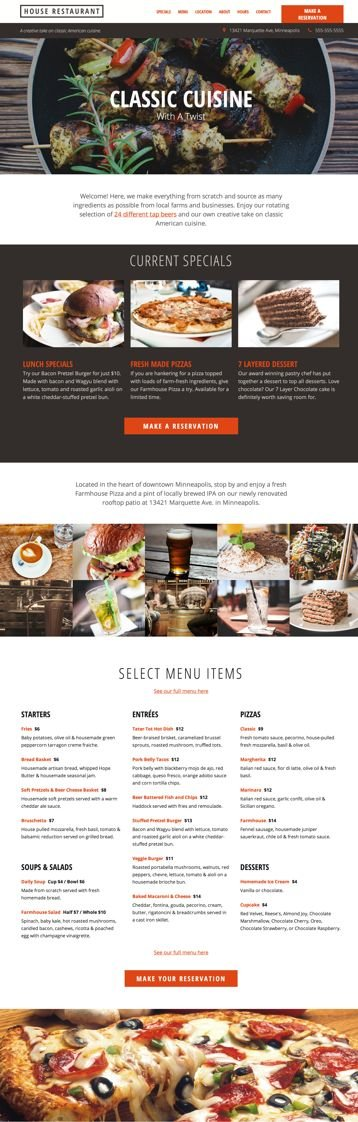 "See the full ""Business Landing Page"" template by clicking here."