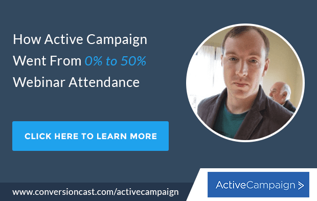Active Campaign Webinar Attendance Rate