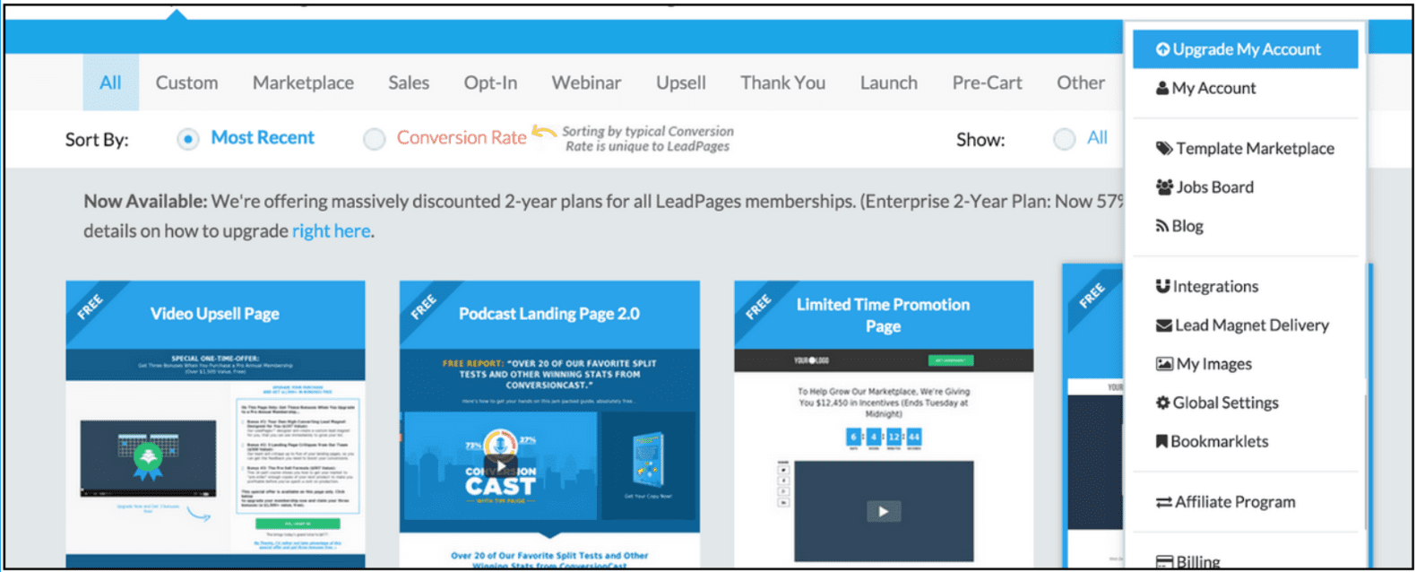 Get two free LeadPages Pro Sub-accounts When You Become a LeadPages Enterprise Member Before This Saturday at Midnight.