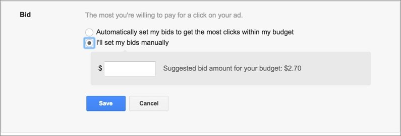 Google AdWords Bidding Window