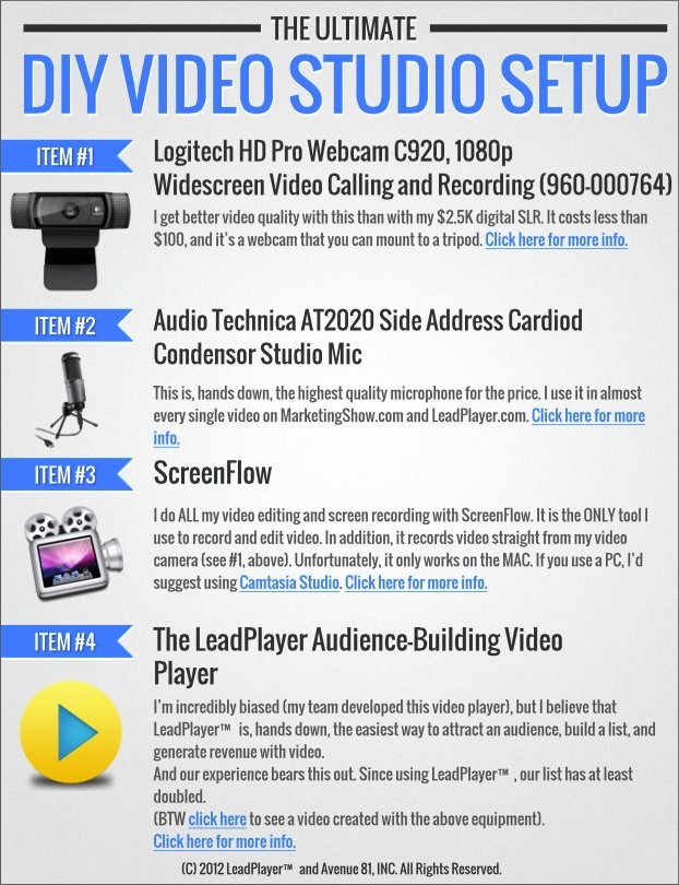 The LeadPages® DIY Video Studio Lead Magnet