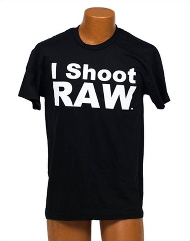 "Jared's original ""I Shoot RAW"" T-Shirt"
