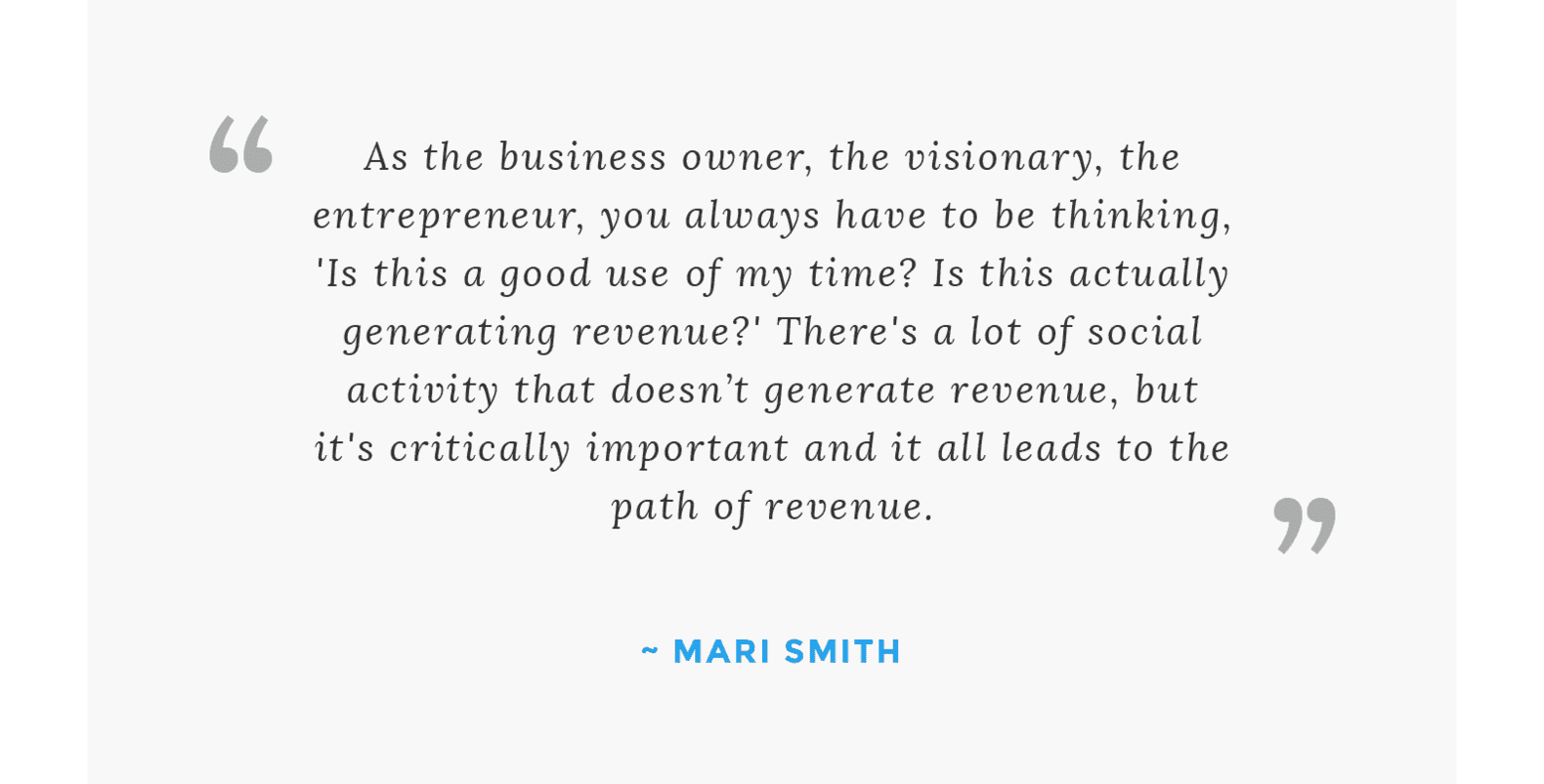 Quote from Mari Smith