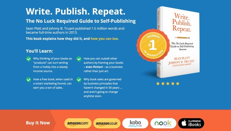 Giving away a chapter of your book? Link your free chapter PDF to a sales page where your subscribers can buy your whole book, like this Book Sales Page.