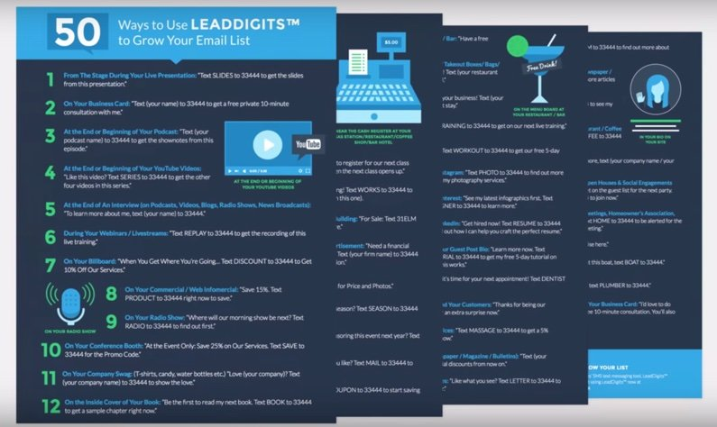 You can use a list to educate your customers about your product or service. For example, we gave away this PDF document with a list of 50 use cases for our new product LeadDigits™.
