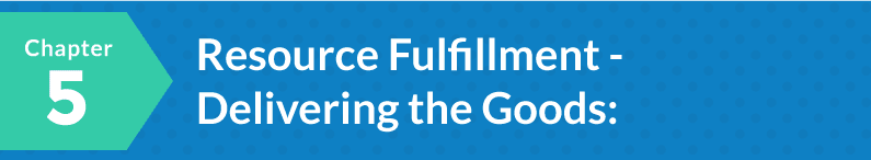 Chapter 5: Resource Fulfillment - Delivering the Goods: