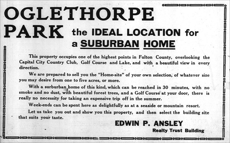 How real estate was sold circa 1914
