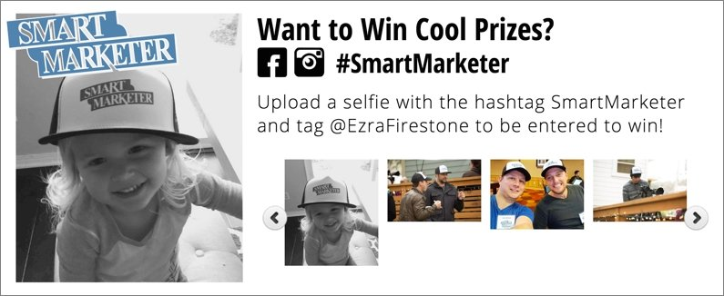 Contest pictures from Ezra's website, Smart Marketer