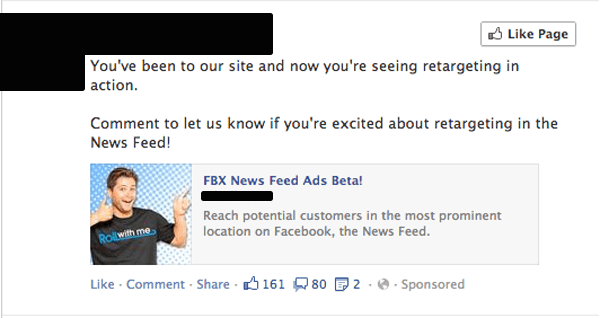 Facebook Retarget Creepy
