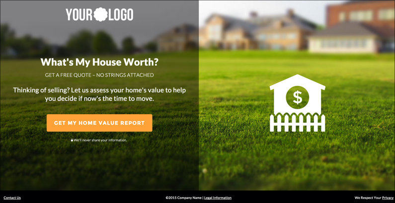 Free template images for real estate lead generation for Price my house free online