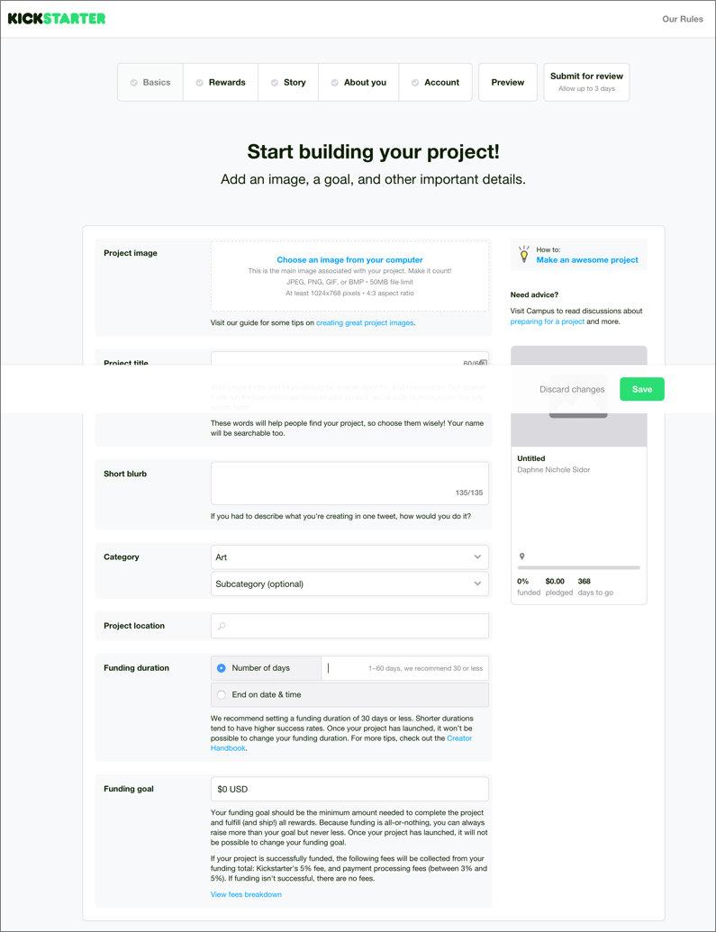 A peek inside Kickstarter's fundraising platform