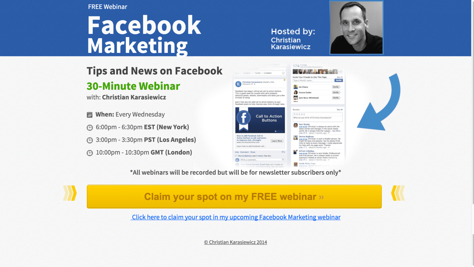 Christian K Facebook marketing webinar