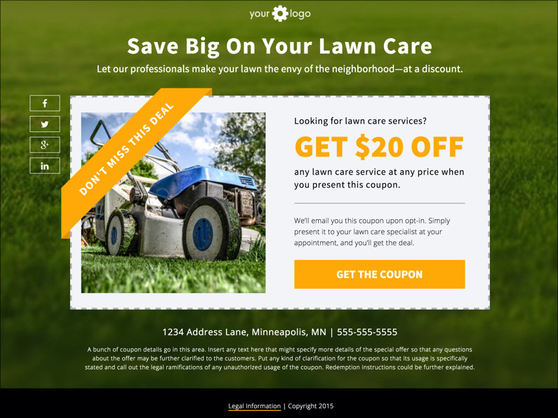 Landing Page Download Free Coupon Template – Free Templates for Coupons