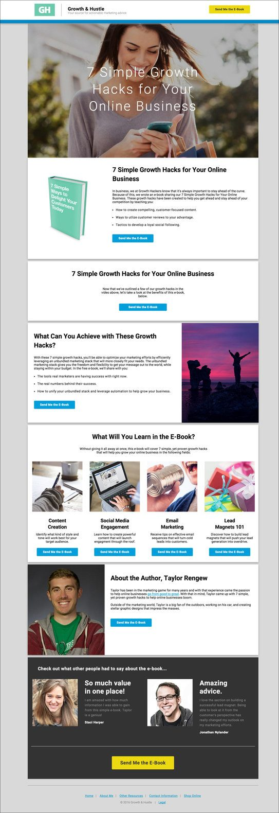 Our LinkedIn landing page template