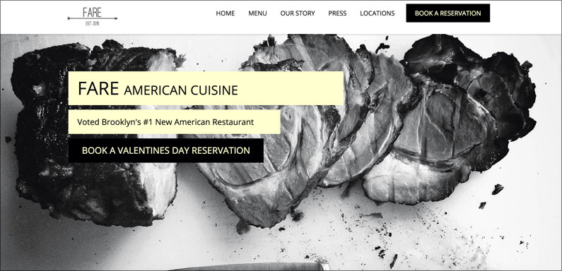 Restaurant Website Page