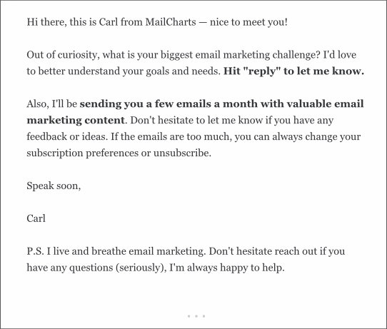 mailcharts - how can I help