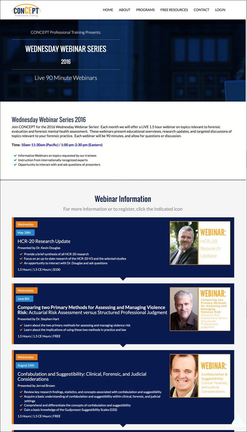 Wednesday Webinar 2016