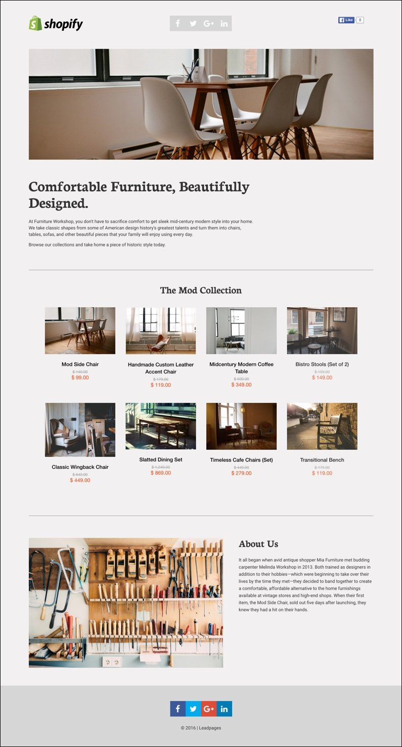 shopify leadpages use them together with new templates. Black Bedroom Furniture Sets. Home Design Ideas