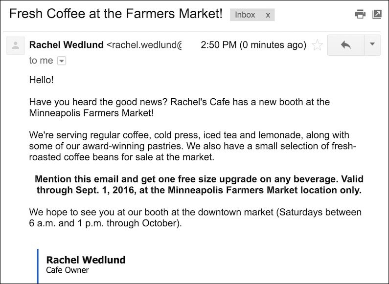 Email 2 screenshot
