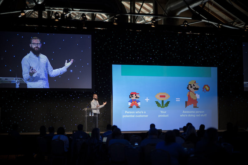 Onboarding expert Samuel Hulick worked Super Mario into his Converted 2015 presentation.