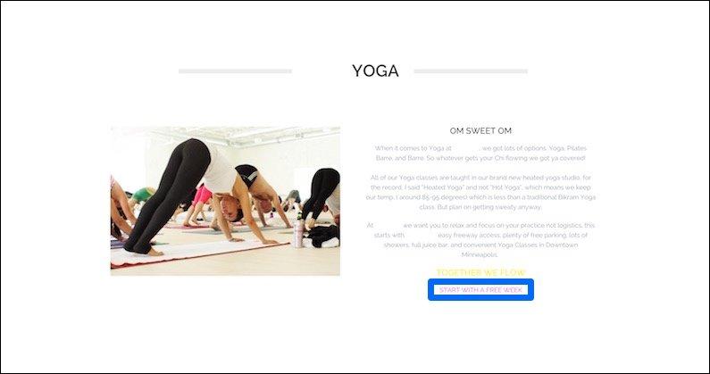 Yoga PPC Landing Page