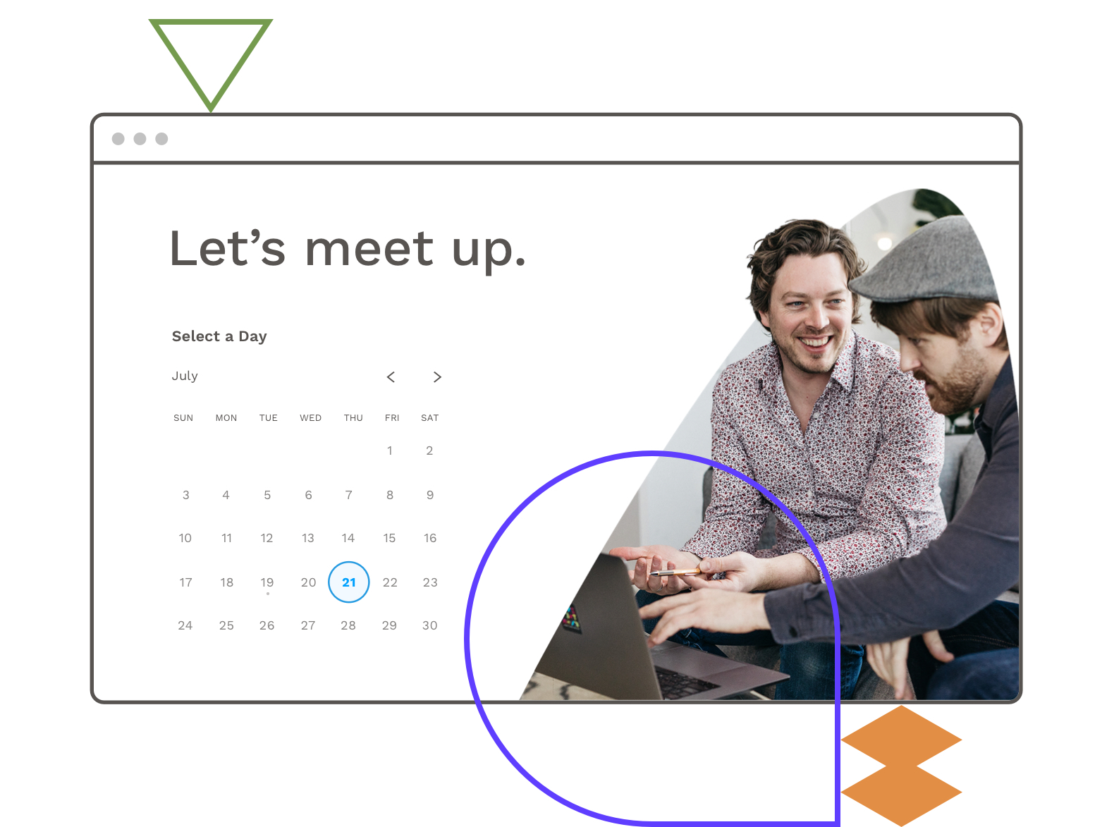 Schedule an in-person meeting with Leadpages & Calendly