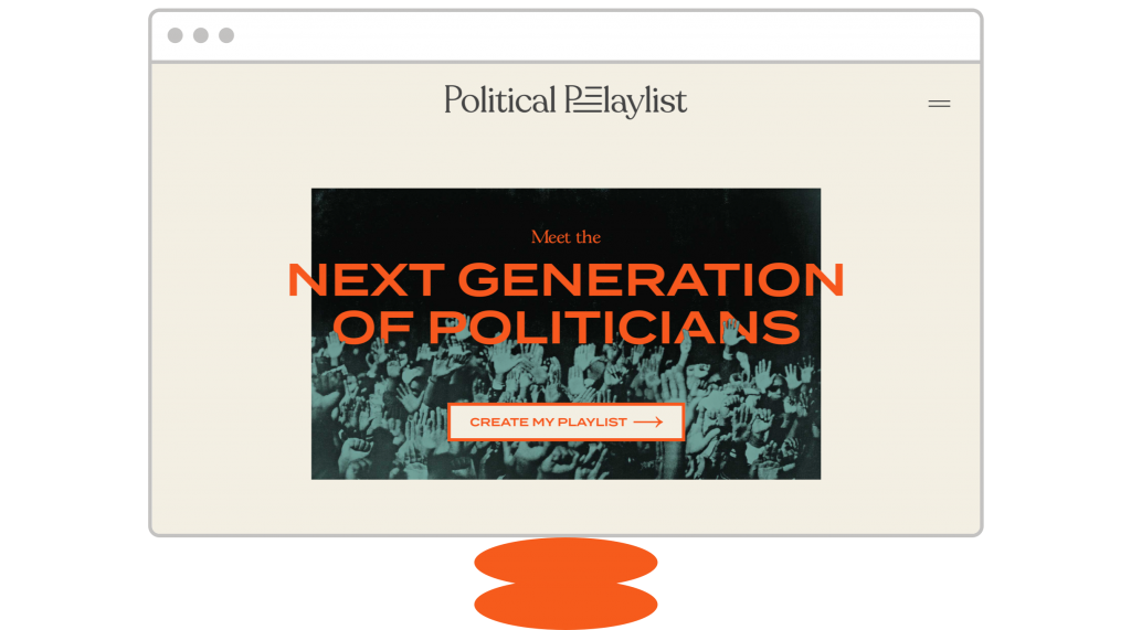 homepage design Political Playlist