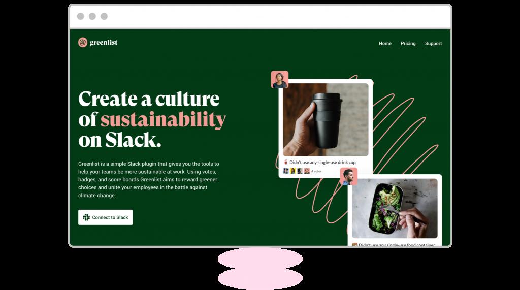 homepage design greenlist
