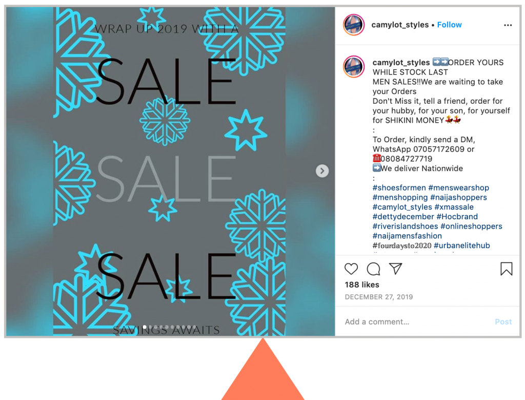 Sale Sale Sale caption on Instagram